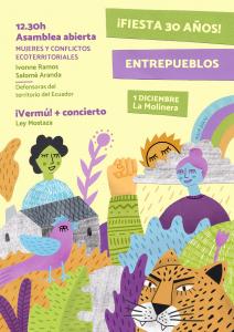 Valladolid: Mujeres y conflictos ecoterritoriales + Fiesta 30 años @ La Molinera