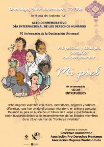 Los Corrales. Proyección Mi piel @ local del Sindicato Andaluz de Trabajadores/as (SAT)