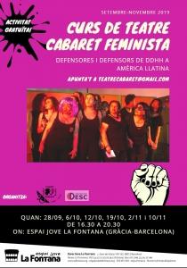 """Barcelona: Teatre Cabaret Feminista """"Defensors/es de DDHH a Amèrica Llatina"""" @ Espai Jove la Fontana"""