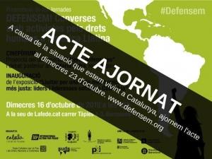 Barcelona: Presentació de les Jornades DEFENSEM! @ Lafede.cat-Organitzacions per a la Justícia Global