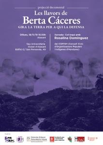 """Alacant: Documental """"Les llavors de Berta Cáceres"""" + Coloqui amb Rosalina Domínguez @ Sede Universitaria Ciudad de Alicante"""