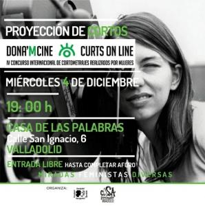 Valladolid: Proyección de cortos Dona´m cine @ Casa de las Palabras
