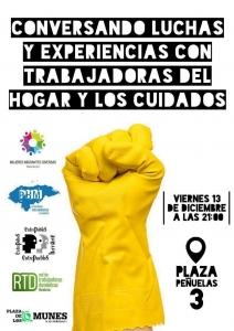 Madrid: Conversando luchas y experiencias con trabajadoras del hogar y los cuidados @ Plaza de los Comunes