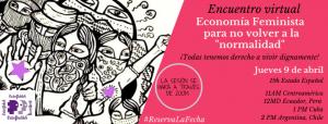 """Economía Feminista, para no volver a la """"normalidad"""" @ Webinar zoom"""