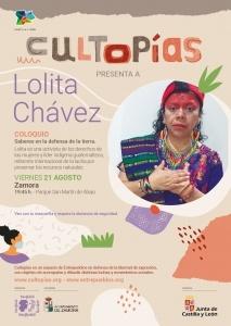 """Zamora. Cultopías presenta """"Saberes en defensa de la tierra"""" con Lolita Chávez @ Parque San Martín de Abajo"""