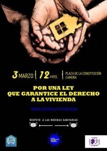 Zamora: Concentración Por una ley que garantice el derecho de la vivienda @ Plaza de la Constitución