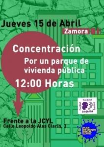 Zamora: Concentración por un parque de vivienda pública