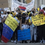Concentración Madrid solidaridad pueblo colombiano