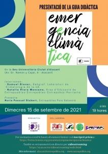 """Presentación de la Guía Didáctica """"Emergencia Climática"""" @ Sede Universitaria Ciudad de Alicante (Edif. Avda. Dr. Ramón y Cajal, 4, Alicante)"""