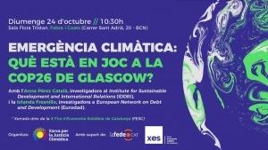 Què hi ha en joc a la COP26 de Glasgow? @ Fabra i Coats